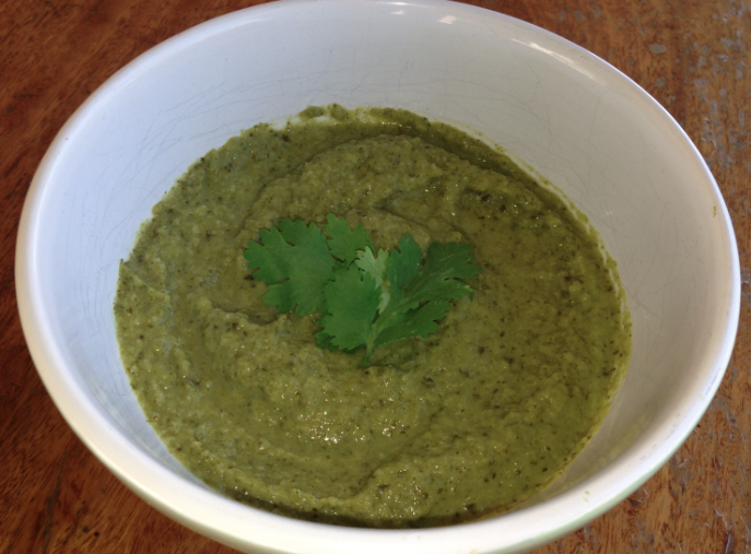 feature image of spicy broccoli soup
